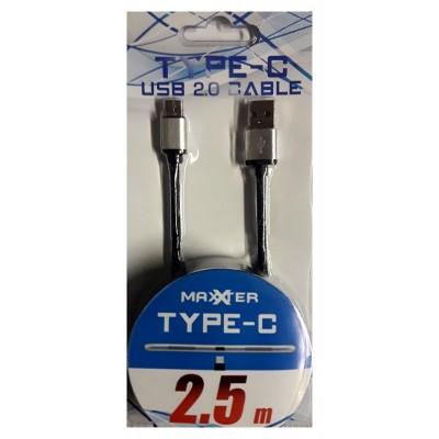 Câble USB 2.0 Type-C 2.5m