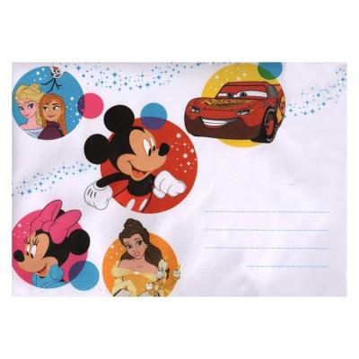 2 cartes de vœux Disney 3D enveloppe