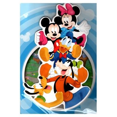2 cartes de vœux Disney 3D bande mickey