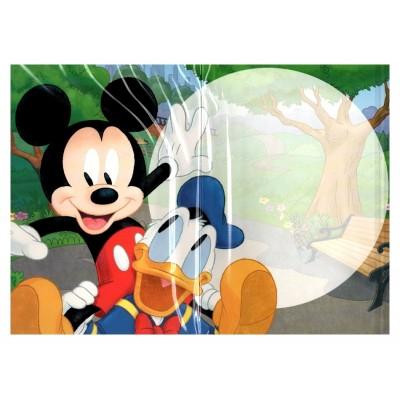 2 cartes de vœux Disney 3D bande Mickey intérieur