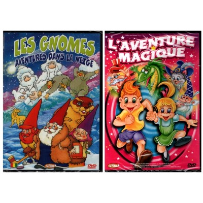 NEUF - 2 DVD LES GNOMES / L'AVENTURE MAGIQUE