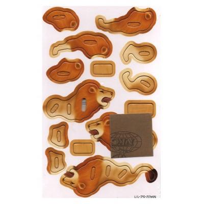 Puzzle en bois 3D Lion