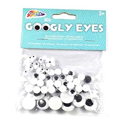 80 pcs Googly Eyes Stickers Auto-adhésif