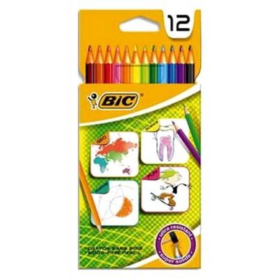 12 crayons de couleur BIC sans bois Ultra résistant