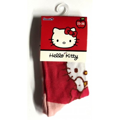 Taille 23-26 - Chaussettes Hello Kitty Rouge