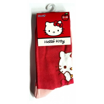 Taille 31-34 - Chaussettes Hello Kitty Rouge