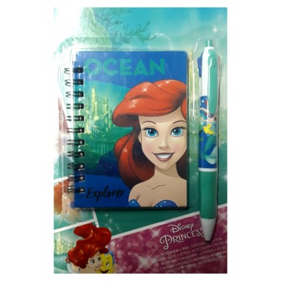 Livre de note Disney la petite Sirène + stylo
