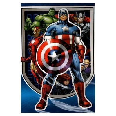 Carte de vœux Avengers 3D Marvel