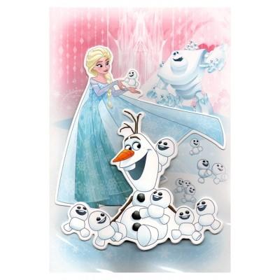 Carte de vœux Disney 3D Reine des neiges