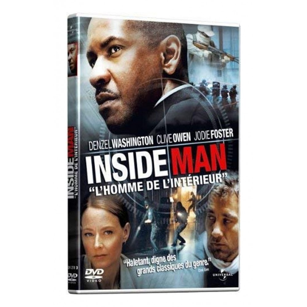 DVD Inside Man avec Denzel Washington
