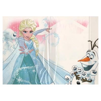 Carte de vœux Disney 3D Reine des neiges intérieur