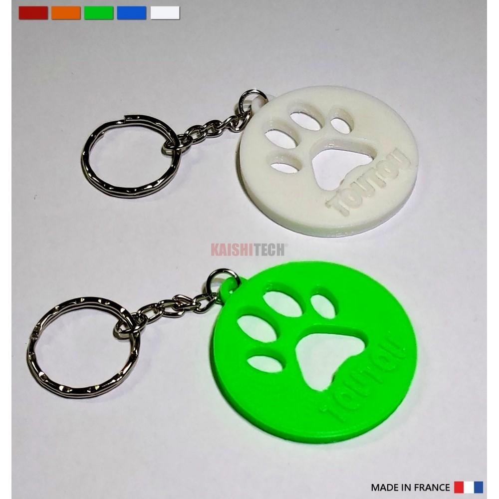 """Porte clés  3D """" Empreinte"""" personnalisé avec le prénom de votre animal..."""