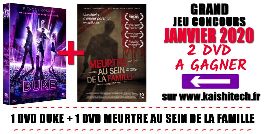 KAISHITECH -  Jeu concours Janvier 2020 - 2 dvd à gagner !